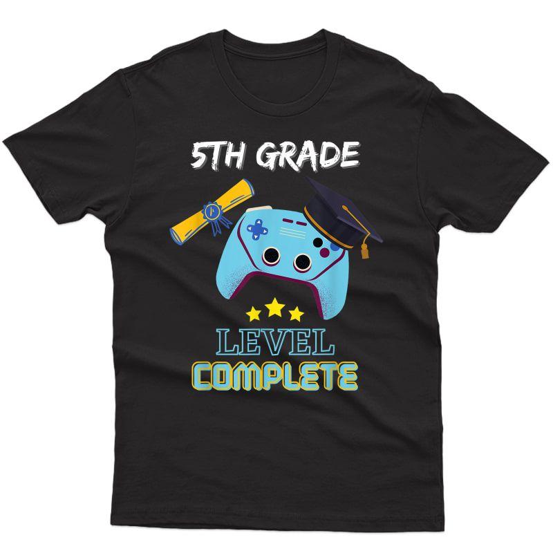 5th Grade Level Complete Gamer Class Of 2021 Graduation Gift T-shirt